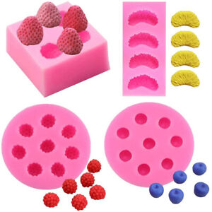 Candle Molds 3D Strawberry Segment Fruit Soap Candle  Mulberry Silicone-Molds