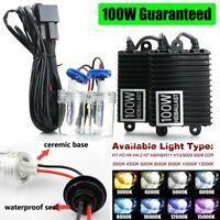 100W Xenon HID Headlight H1 H3 H4-2 H7 H8 H9 H10 H11 9005 9006 880 881 HB3 HB4