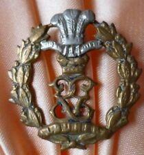 VICTORIAN Middlesex Regiment Collar Badge Bi-Metal GENUINE