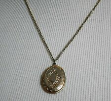 GOLD PLATED LOCKET WITH CHAIN without Hallmarks