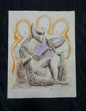 Leonora Carrington drawing on paper, vintage, rare,