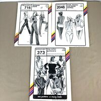 Lot of 3 Vtg Stretch & Sew Sewing Patterns Uncut 1980s Jeans Panties Top PA348