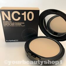New MAC Studio Fix Powder Plus Foundation NC10 100% Authentic