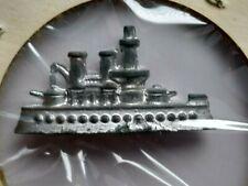 Vintage Monopoly Battleship Game Piece Token Metal