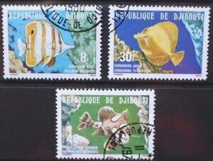 DJIBOUTI 1978 Fish Fishes. Set of 3. Fine USED/CTO. SG743/745.