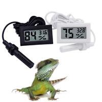 Digital Temperature Thermometer Hygrometer Humidity Meter Vivarium Tank Reptile~