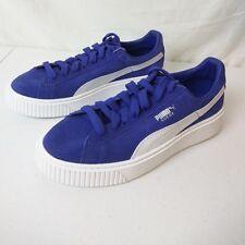Mens Boys Junior Puma Classic Suede Shoes Sneakers 5.5 363663 05 Purple Blue