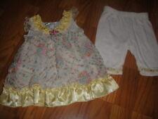 BOUTIQUE BABY SARA 12M 12 MONTHS FLORAL DRESS CAPRI SET