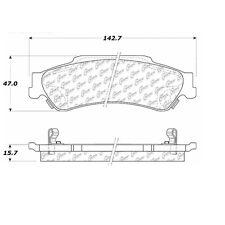 105.07290 - Centric Posi-Quiet Ceramic Disc Brake Pad Set W/HDW Free Shipping!