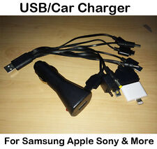 Multi USB Caricabatteria Da Auto iPhone 4 5 5S 5C IPAD IPOD MP3 NOKIA HTC SAMSUNG GALAXY