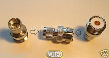 UHF SO-239 SO239 Female Jack to Mini UHF Male Plug Straight RF Connector Adapter