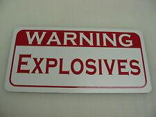 WARNING EXPLOSIVES Metal Sign For Farm Ranch Car Shop Warehouse Gas Station