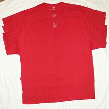 Big Mens FOL Cotton Crew Neck T-Shirts 3X Lot of 3 Red NEW