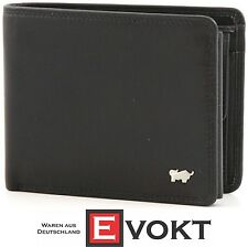 Braun Buffel Wallet Golf BB-92335-051 Men's Black Leather Trifold Genuine New