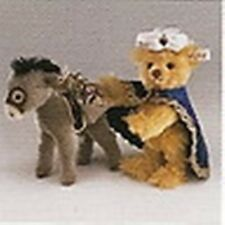 "STEIFF  ""TEDDY BEAR WITH LITTLE DONKEY"" MOHAIR SET LIMITED EDITION EAN 670886"
