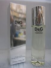 D&G FEMININE DOLCE & GABBANA 3.3 , 3.4 FL oz / 100 ML EDT Spray Sealed Box