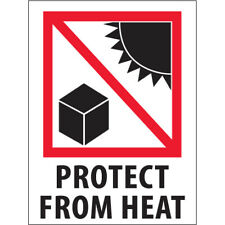 New Listing3 X 4 Protect From Heat Labels 5000 Pcs
