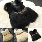 2017 Women's Luxury Real Mongolian Fur Vest Fox Gilet Waistcoat Winter Warm