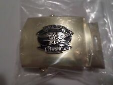 U.S NAVY SEAL TEAM 3 INSIGNIA ON A SOLID BRASS BELT BUCKLE MADE IN THE U.S.A