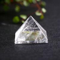 Natural Clear Quartz Crystal Pyramid Figurine Altar Healing Reiki Specimen