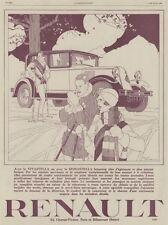 """""""RENAULT VIVASTELLA"""" Annonce originale entoilée ILLUSTRATION 2/2/29 René VINCENT"""