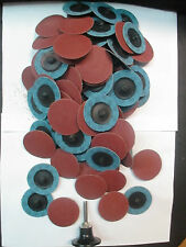 """100-ROLOC SANDING DISC USA MADE SCOTCHBRITE FITS3M2""""80GRIT TYPE R FREE ARBOR NEW"""