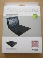 PINK Bluetooth Wireless Keyboard Leather Carry Case/Stand Apple iPad 1,2,3 New