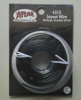 Black Layout Wire 20 Gauge HO N SCALE ATLAS 315 TRAIN TRACKS LAYOUT 50 Feet
