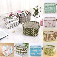 Foldable Fabric Closet Storage Box Bin Cube Cotton Linen Organizer Basket Drawer