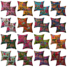 Indian Handmade Vintage Fruit Print Cushion Cover Cotton Pillow Case Cover Throw