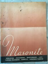 Masonite 1935 Catalog Insulation,tempered Press wood,Cushioned Floor