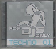 FOR DJS dj's ONLY TECHNO 01  CD F.C. COME NUOVO!!!