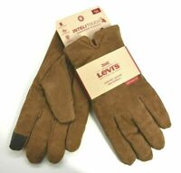 Levis Genuine Brown Leather Max Warmth Heritage Fit Men Gloves Intelitouch