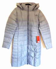 The North Face Women's METROPOLIS II Parka 550 Down Jacket Trench Coat Grey M 10