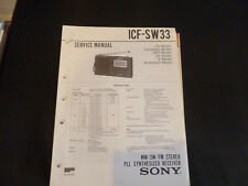 Original Service Manual Sony ICF-SW33