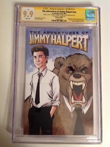 "CGC SS 9.9 The Office Jimmy Halpert comic #41/100 NBC signed by Baker ""Stanley"""