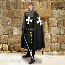 MEDIEVAL HOSPITALLER KNIGHT Crusader Middle Ages Men Cotton CAPE CLOAK with HOOD