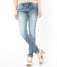 Buckle Rock Revival Womens Laney Skinny Medium Blue Stretch Denim Jeans 31 x 31