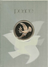 Vintage Franklin Mint Gold Dove Sealed Coin Christmas Card 1975 Peace Happiness