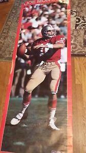 "Vintage Original 1988 JOE MONTANA Starline Poster (26 x 75"") LAST ONE"
