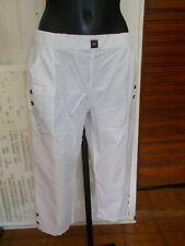 Pantalon court pantacourt coton taille elastique BLANC DU NIL T.4 40/42 19PE17