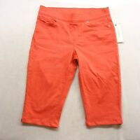 New Levis Womens Coral Pull On Capri Stretch Mid Rise Denim Jeans Pants Size 28
