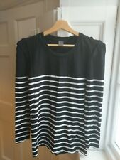 Vera Moda black/white stripped long sleeved top size large