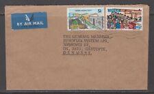 Nigeria 19xx. Air mail cover to Denmark.