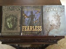 RECKLESS, FEARLESS, GOLDEN YARN, Cornelia Funke, all SIGNED w/ DRAWINGS, 1sts HC