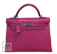 Hermes Kelly Bag 32cm Ostrich Pink Fuchsia PHW