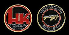 Heckler & Koch HK MP5 SMG Instructor Challenge Coin