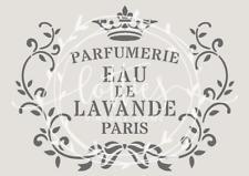 A5 STENCIL EAU DE LAVANDE Furniture Fabric Vintage FRENCH ❤ Shabby Chic