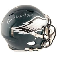 CARSON WENTZ Autographed Eagles Speed Authentic Helmet FANATICS
