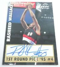 Rasheed Wallace Auto 1997 Visions Signings Card Score Authentic Autograph Signed